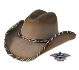 Cowboyhut Cheyenne braun Country/Western Used Look , Größe (Kopfumfang):M -