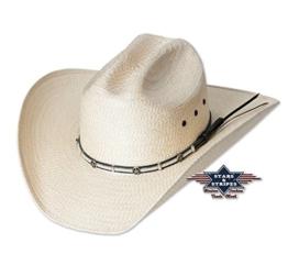 Cowboyhut Curtis naturfarben aus 100% Stroh von Stars&Stripes, Größe (Kopfumfang):59 -