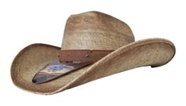 Cowboyhut Milo Beige mit Lederhutband von Stars & Stripes, Größe:S -