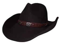 Cowboyhut Roy von Stetson in braun mit braunem Hutband und Conchos, Größe:XL -
