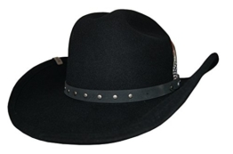 Cowboyhut von Stetson Batson Schwarz mit Hutband , Größe:L -