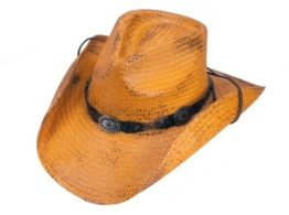 "Cowboyhut/Westernhut Strohhut ""Red Rock"" im -Used Look- (XL) -"
