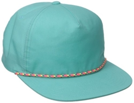 Cusak Cotton Flatbrim Cap Snapback Basecap Baseballcap Kappe Herschel Basecap Flatbrim Cap (One Size - türkis) -