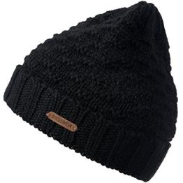 Damen Strickmütze Brandkogel, Einfarbig, Gr. One size, Schwarz (schwarz 022) -
