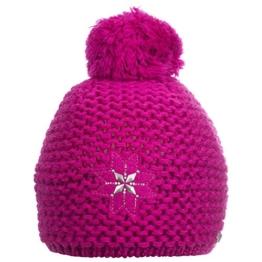 Damen Strickmütze Erlspitze, Einfarbig, Gr. One size, Rosa (fuchsia 307) -