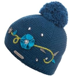 Damen Strickmütze Frau Hitt, Einfarbig, Gr. One size, Blau (malachitblau 585) -