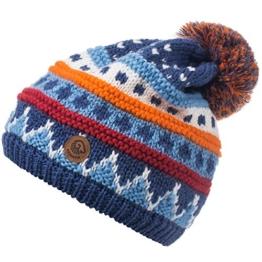 Damen Strickmütze Galzig, Mehrfarbig, Gr. One size, Blau (jeans 527) -