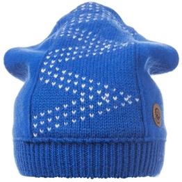 Damen Strickmütze Grasbergjoch, Mehrfarbig, Gr. One size, Blau (cobalt 553) -