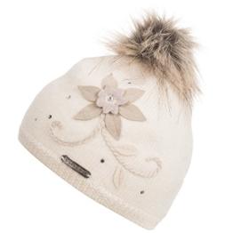 Damen Strickmütze Serles, Einfarbig, Gr. One size, Weiß (weiss 001) -