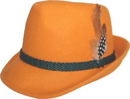 Damen Trachtenhut bayrischer Filzhut Seppelhut Sepplhut orange -
