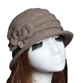 Damen Vintage Bucket Hut Wintermütze Beret (#2 Khaki) -