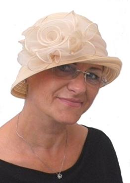 Damenhut eleganter Glockenhut Sandfarbig SEEBERGER -