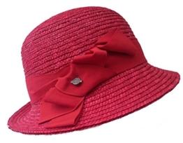 Damenhut SEEBERGER Naturstroh ruby red Glockenhut Sommerhut Cloche -