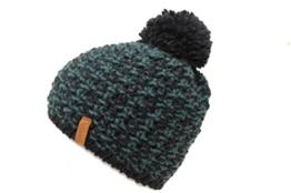 Damenmütze mit Bommel mit Alpakawolle (blau) -