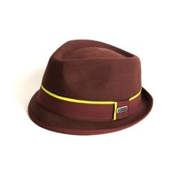 Dasmarca Addison Zerdrückbare Zweifarbige Braun Wolle Filzhut Trilby Fedora Hut - L -