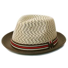 Dasmarca Adrian Sahara Mehrfarbige Faltbare Packable Sommer Geflochtene Strohtrilby Hat - L -