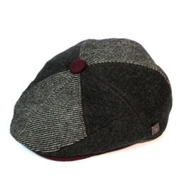 Dasmarca Carter Grau TweedKappe Wollmütze Wintermütze Ballonmütze Newsboy Cap, Bakerboy Cap - S -