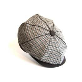 Dasmarca James Braun TweedKappe Wollmütze Wintermütze Ballonmütze Newsboy Cap, Bakerboy Cap - L -