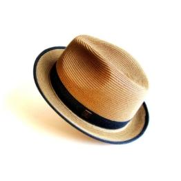Dasmarca Sommer Rust Straw Fedora-Hut - Florenz - M -