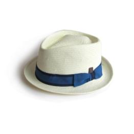 Dasmarca Summer Weiß Straw Hat Porkpie - Havanna XL -