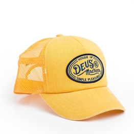 DEUS Kappe Trucker Charlie - washed yellow -