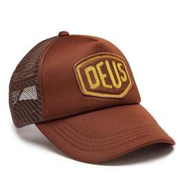 DEUS Trucker Kappe Felt Shield - brown -