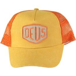 DEUS Trucker Kappe Foxtrot Shield - orange -