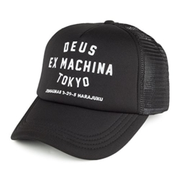 DEUS Trucker kappe Tokyo Address - Black -