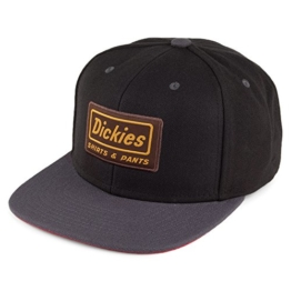Dickies Jamestown Starter Snapback Cap - Schwarz/Grau - Einstellbar -