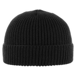 Diebesmütze Classic mit Teflon Umschlagmütze Wintermütze (One Size - schwarz) -