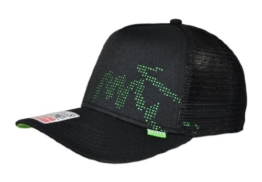DJINNS - Burned Spots (black/green) - High Fitted Trucker Cap -