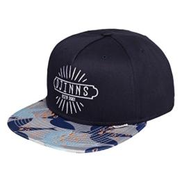 DJINNS - Crazy Pattern (navy/birds) - Snapback Cap -