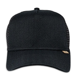 DJINNS - Fishburn (black) - High Fitted Trucker Cap -