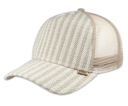 DJINNS - Fishburn (sand/offwhite) - High Fitted Trucker Cap -