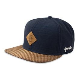 DJINNS - Glencheck (navy) - Snapback Cap -