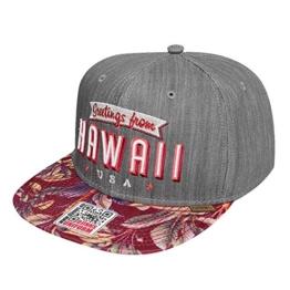 Djinns Herren Caps / Snapback Cap Denim Aloha 6 Panel grau Verstellbar -