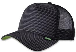 Djinns Herren Caps / Trucker Cap Needlecheck II High schwarz Verstellbar -