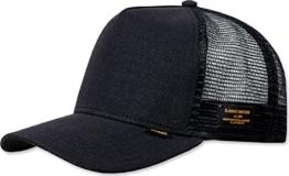 Djinns Herren Caps / Trucker Cap Hemp schwarz Verstellbar -