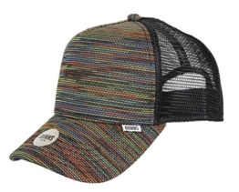Djinns Herren Caps / Trucker Cap Mesh Rainbow High schwarz Verstellbar -