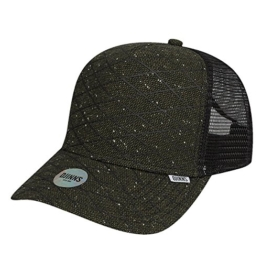 Djinns Herren Caps / Trucker Cap Rubber Tweed High Fitted olive Verstellbar -