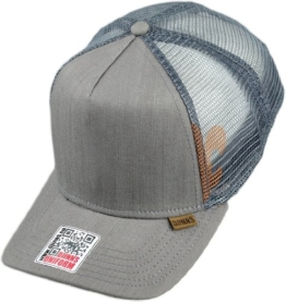 Djinns Herren Caps / Trucker Cap Linen 2014 High Fitted grau Verstellbar -