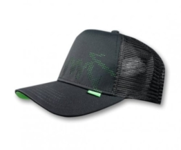 DJINNS TRUCKER CAP - BURNED SPOTS - BLACK / GREEN -