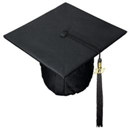 Doktorhut Abschlussfeier Uni Bachelor Doktor Diplom Jahreszahl 2015/16/17 (schwarz mit Jahreszahl 2017) -