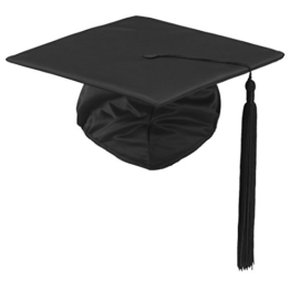 Doktorhut DeLuxe Regu Abschlussfeier Abi Cap Graduation nach Größen M/L -