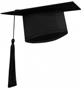 Doktorhut für Abschlussfeier schwarz Bachelor Doktor Master Diplom Uni -