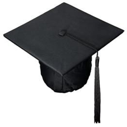Doktorhut Graduation Cap Mortarboard (schwarz) -