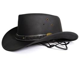 Echt Leder Outdoor Cowboyhut Westernhut Braun - Brown Skipper (XL, Braun) -