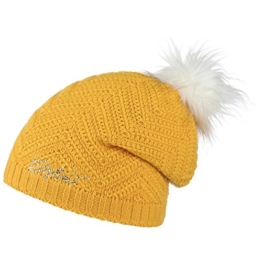 Eisbär Ashley Lux Crystal Beanie Damenmützen Pudelmütze (One Size - gelb) -