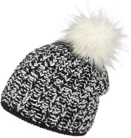 Eisbär Damen Mütze Klio Lux, Schwarz/White, One Size, 403252 -
