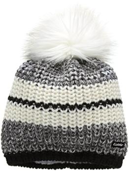 Eisbär Damen Mütze Kuno Lux, Schwarz/Graumelange/White, One Size, 408027 -